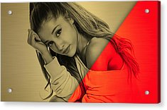 Ariana Grande Collection Acrylic Print by Marvin Blaine