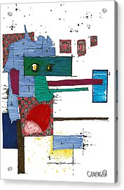 Acrylic Print featuring the drawing Untitled by Teddy Campagna