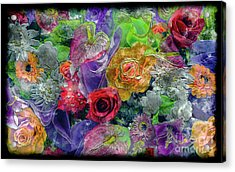 21a Abstract Floral Painting Digital Expressionism Acrylic Print