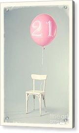 21th Birthday Acrylic Print by Edward Fielding