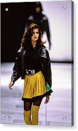 Versace Fall 1991 Rtw Show Acrylic Print by Guy Marineau