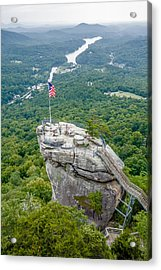 Lake Lure And Chimney Rock Landscapes Acrylic Print by Alex Grichenko