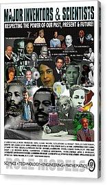 Major Inventors And Scientists Acrylic Print