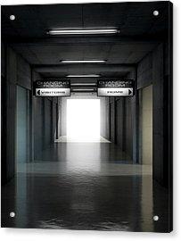 Sports Stadium Tunnel Acrylic Print by Allan Swart