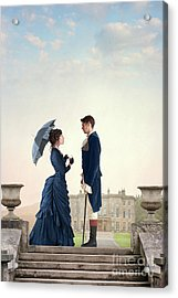 Acrylic Print featuring the photograph Victorian Couple  by Lee Avison