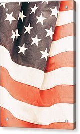 Acrylic Print featuring the photograph American Flag by Les Cunliffe