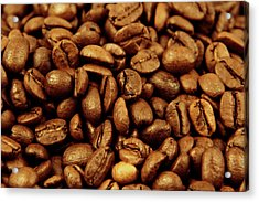 Acrylic Print featuring the photograph Coffee Beans by Les Cunliffe