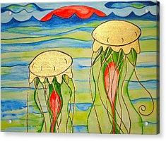 Acrylic Print featuring the painting 24-karat Jellies by Erika Swartzkopf