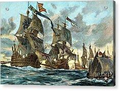 Spanish Armada (1588) Acrylic Print by Granger