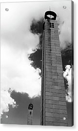 Acrylic Print featuring the photograph 25 De Abril Monument In Black And White by Lorraine Devon Wilke