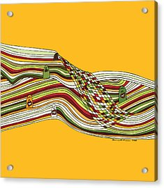 Line Faces Acrylic Print by Karl Addison