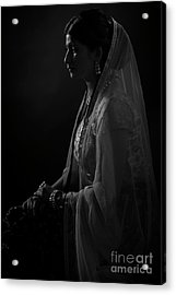 Portrait Of Indian Lady Acrylic Print