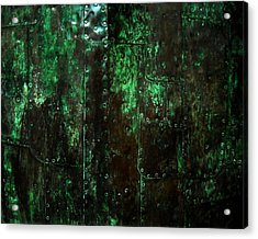 2525 Ad Copper Wall 01 Acrylic Print by Nilla Haluska