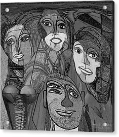 256 - Nice People Acrylic Print by Irmgard Schoendorf Welch