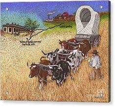 25th Anniversary Santa Fe Trail Association Acrylic Print by Tracy L Teeter