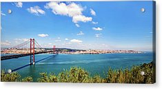Acrylic Print featuring the photograph 25th April Bridge Lisbon by Marion McCristall