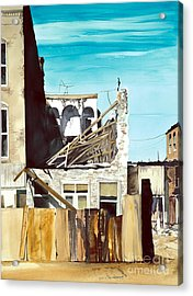 Acrylic Print featuring the painting 25th. Street by Douglas Teller