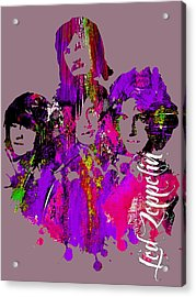 Led Zeppelin Collection Acrylic Print by Marvin Blaine