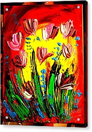 Tulips Acrylic Print by Mark Kazav