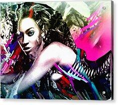 Beyonce Knowles Acrylic Print