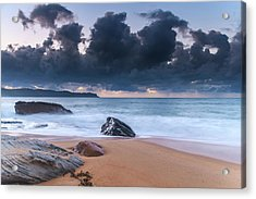 Sunrise Seascape With Clouds Acrylic Print