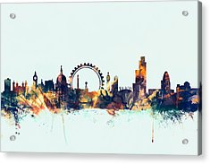 London England Skyline Acrylic Print