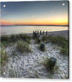 Ludington Beach Acrylic Print by Twenty Two North Photography
