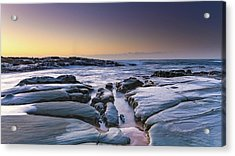 Sunrise Seascape And Rock Platform Acrylic Print