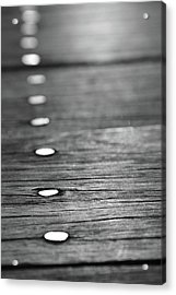 Detail Of Nails On Boardwalk Acrylic Print