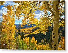 Ohio Pass Fall Colors Acrylic Print