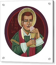 Acrylic Print featuring the painting 297 Holy Martyr Blessed William Hart -1583 by William Hart McNichols