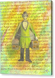 Acrylic Print featuring the mixed media 2b Or Not 2b by Desiree Paquette
