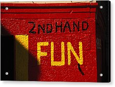 2nd Hand Fun Acrylic Print by Carl Purcell