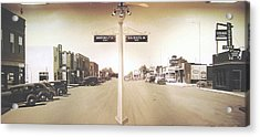 2nd St. 1930 And Route 66 1950 Acrylic Print by Doug Quarles