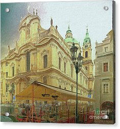 2nd Work Of St. Nicholas Church - Old Town Prague Acrylic Print