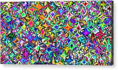 2x1 Abstract 305 Acrylic Print by Rolf Bertram