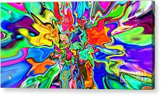 2x1 Abstract 311 Acrylic Print by Rolf Bertram