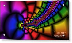 2x1 Abstract 328 Acrylic Print by Rolf Bertram