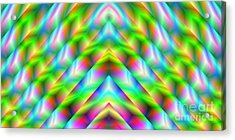 2x1 Abstract 341 Acrylic Print by Rolf Bertram