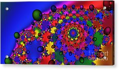 2x1 Abstract 353 Acrylic Print by Rolf Bertram