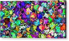 2x1 Abstract 366 Acrylic Print by Rolf Bertram