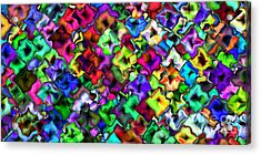 2x1 Abstract 405 Acrylic Print by Rolf Bertram