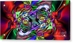 2x1 Abstract 407 Acrylic Print by Rolf Bertram