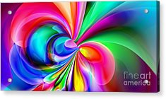 2x1 Abstract 416 Acrylic Print by Rolf Bertram