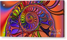 2x1 Abstract 429 Acrylic Print by Rolf Bertram