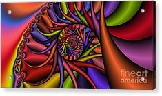 2x1 Abstract 432 Acrylic Print by Rolf Bertram