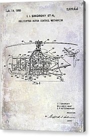 1950 Helicopter Patent Acrylic Print
