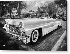 1959 Lincoln Continental Town Car Mk Iv Painted Bw   Acrylic Print by Rich Franco