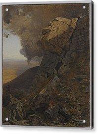 A Cliff In The Katskills Acrylic Print