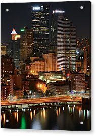 A Pittsburgh Night Acrylic Print